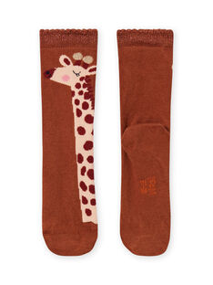 Calcetines con estampado de jirafas para niña MYACOMCHO / 21WI01L1SOQ420