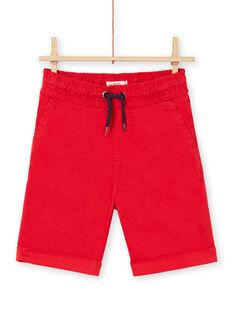 Bermudas de color rojo para niño LOJOBERMU3 / 21S902F3BER050