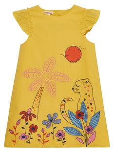 Vestido de color amarillo JATROROB3 / 20S901F3ROBB102