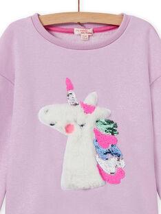 Sudadera con estampado de unicornio y lentejuelas reversibles para niña MAPLASWEA / 21W901O1SWE326