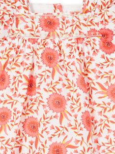 Vestido evasé con estampado floral para bebé niña LINAUROB1 / 21SG09L2ROB001