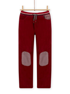 Pantalón de pana de color rojo burdeos para niño MOFUNPAN / 21W902M2PAN511