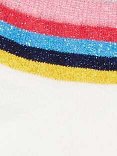 Calcetines cortos de color crudo, con rayas de Lurex®, para niña LYAHACHO / 21SI01X1SOQ001