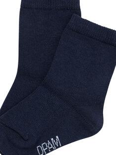 Calcetines de color azul marino para bebé JYUESCHO1 / 20SI1061SOQ713