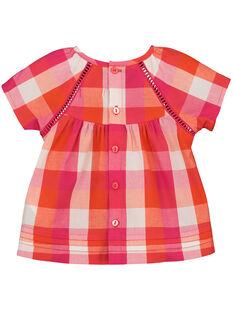 Blusa de cuadros para bebé niña FIYECHEM / 19SG09M1CHE000