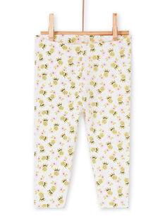 Leggings de color blanco, amarillo y rosa, para bebé niña LYIBALEG / 21SI09O1CAL000