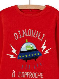 Pijama con estampado de extraterrestre para niño MEGOPYJSPA / 21WH1284PYJE414
