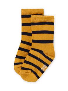 Calcetines amarillos de rayas para bebé niño MYUJOCHOR2 / 21WI101CSOQ117