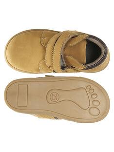 Zapatillas de piel nobuk de color beige para niño GGBASBOOT / 19WK36I7D3F804