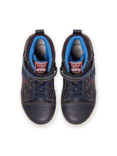 Zapatillas altas de color azul marino estilo deportivo para niño MOBASGI / 21XK3672D3F070