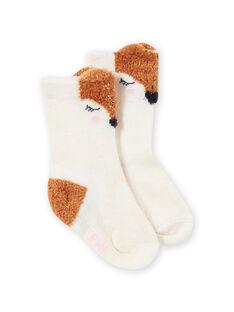 Calcetines con estampado de búho para bebé niña MYISAUSOQ / 21WI09P1SOQA010
