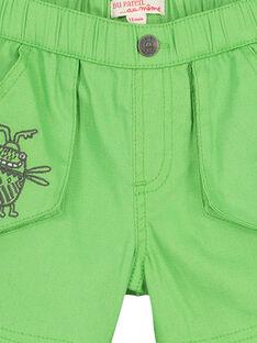 Bermudas de color verde para bebé niño FUYEBER1 / 19SG10M1BER603