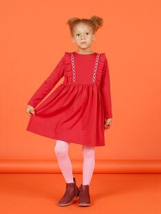 Vestido milano de manga larga avolantado para niña MACOMROB3 / 21W901L2ROB408