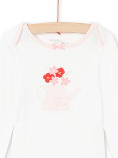 Body de color crudo y rosa, para bebé niña MEFIBODJAR / 21WH13B3BDL001