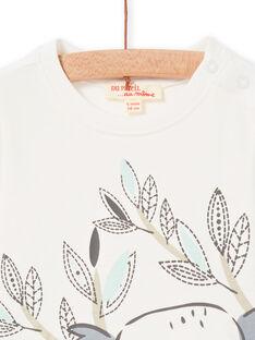 Camiseta de color crudo y azul marino, para bebé niño LUPOETEE3 / 21SG10Y1TML001