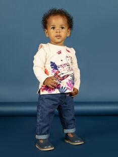 Camiseta de manga larga de color rosa pastel con estampado de tigres para bebé niña MIPATEE1 / 21WG09H4TMLD319