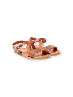 Sandalias de color camel para niña LFSANDLENA / 21KK355DD0E804