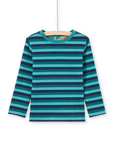 Camiseta de manga larga reversible de color azul para niño MOTUTEE3 / 21W902K1TMLC239