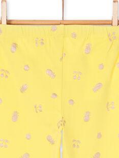 Leggings amarillos para niña LYAJAULEG1 / 21SI01O1CAL116