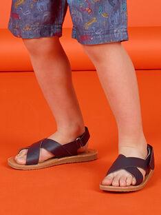 Sandalias azul marino para niño LGSANDLEO / 21KK3658D0E070