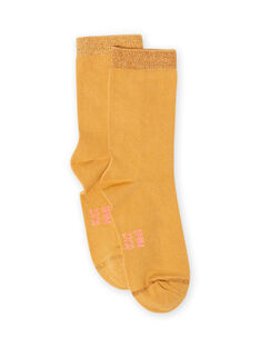 Calcetines de color mostaza para niña MYAJOCHO1 / 21WI0118SOQB106