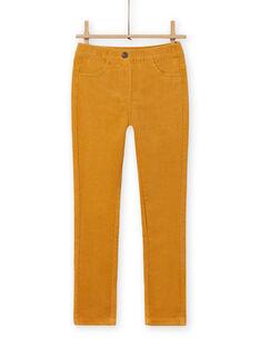 Pantalón de pana amarillo para niña MAJOVEJEG2 / 21W901N2PANB107