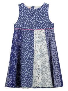 Vestido con estampado de fantasía sin mangas para niña FANEROB3 / 19S901B4ROB099