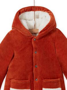 Parka de pana con capucha y estampado de zorro para bebé niño MUGROPAR / 21WG1051PAR408