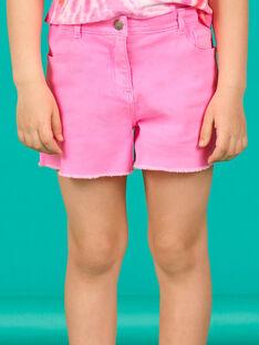 Short rosa flúor con efecto desteñido para niña LABONSHORT1 / 21S901W2SHOD311