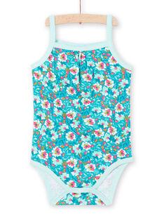 Body turquesa para bebé niña LEFIBODMOT / 21SH13G3BDLC216