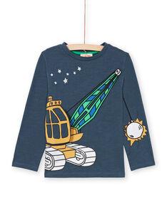 Camiseta de color azul marino para niño MOCOTEE3 / 21W902L2TMLC202