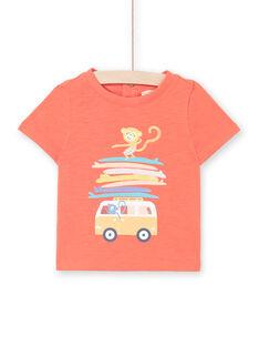 Camiseta de manga corta de color rojo, para bebé niño LUBONTI2 / 21SG10W4TMCF504