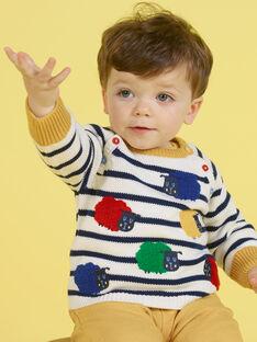 Jersey de color crudo y azul marino de rayas para bebé niño MUMIXPUL / 21WG10J1PUL001