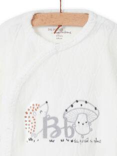 Pelele de color crudo con estampado de fantasía para recién nacido unisex MOU1GRE1 / 21WF0541GRE001