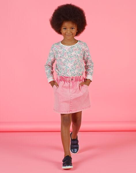 Falda vaquera de color rosa para niña MAKAJUP1 / 21W901I1JUPD305