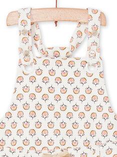Peto de color crudo y rosa con estampado floral, para bebé niña LIPOESAL / 21SG09Y1SAL001