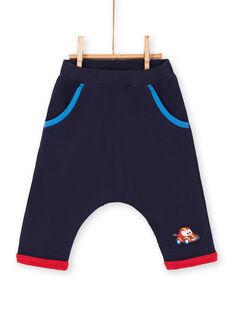 Pantalón azul noche para bebé niño LUHAPAN1 / 21SG10X1PAN713