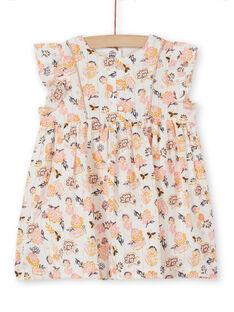 Vestido floral para bebé niña LIPOEROB2 / 21SG09Y3ROB001