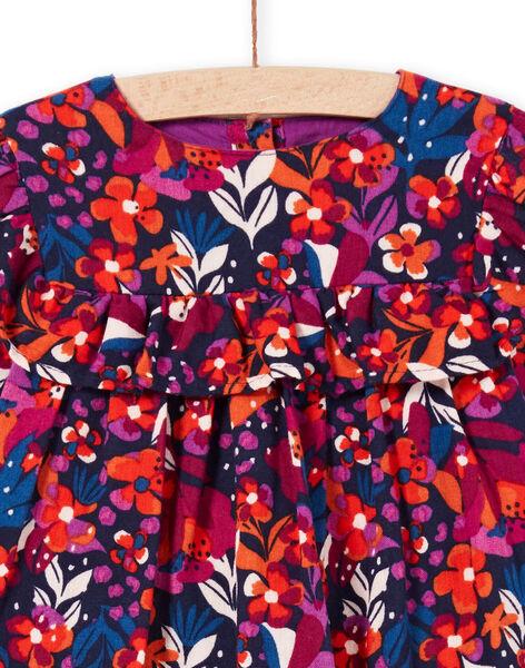 Vestido de manga larga con estampado floral colorido para bebé niña MIPAROB1 / 21WG09H6ROBD319
