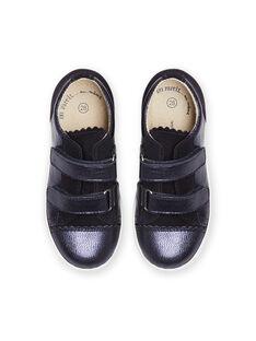 Zapatillas bajas de color azul marino con efecto irisado para niña MABASVEL / 21XK3554D3F070