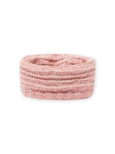 Cuello rosa de punto de chenilla para niña MYAROSNOO / 21WI0154SNOD332