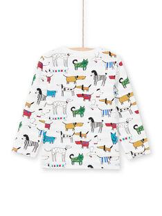 Camiseta blanca reversible para niño MOMIXTEE1 / 21W902J1TML810