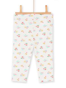 Leggings de color crudo para bebé niña LYIVERLEG / 21SI09Q1CAL001