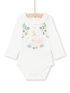Body de color crudo, para bebé niña MIKABOD / 21WG09I1BOD001