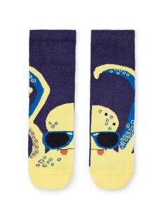 Calcetines azules y amarillos para niño LYONAUCHO2 / 21SI02P2SOQ070