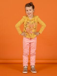 Pantalón de color rosa viejo de lunares para niña MASAUPANT2 / 21W901P1PAN303