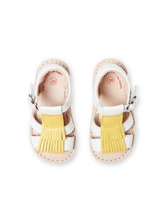Sandalias blancas para bebé niña LBFSANDALMA / 21KK3752D0E000