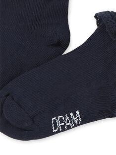Calcetines de color azul marino para bebé niña KYIESCHODEN2 / 20WI0985SOQ070