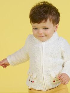 Cárdigan de color crudo con estampado de oveja para bebé niño MUMIXGIL / 21WG10J1GIL001