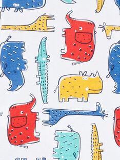 Body de manga larga con animales de la sabana multicolor para bebé niño LEGABODSAF / 21SH1429BDL001